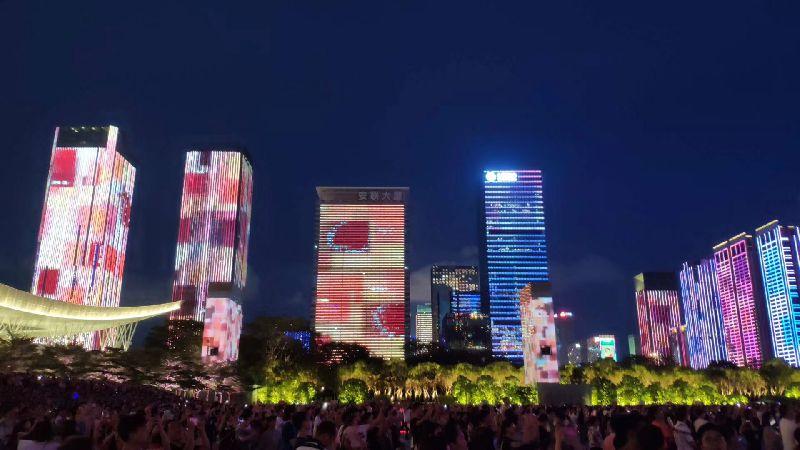 深圳改革开放40周年灯光秀(时间、地点、图片)