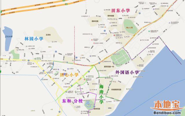 2019年盐田区小学初中学区划分情况一览(含学区分布图)