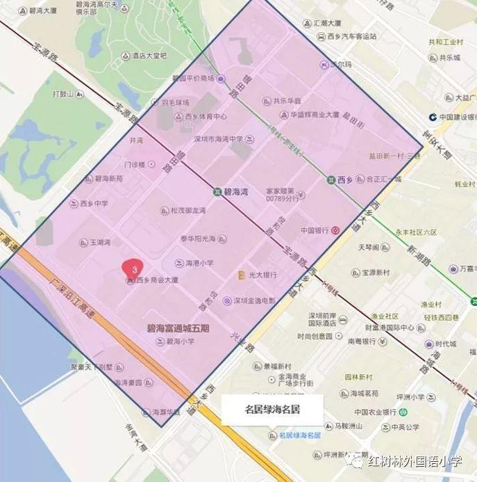 深圳市宝安区红树林外国语小学招生范围 附学区划分图