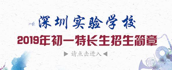 2019年深圳实验学校初一特长生招生简章 27日开始报名