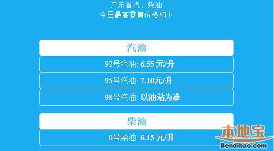 快三平台、广东最新柴汽油价一览(2月28日调价后)