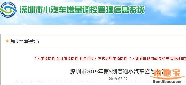 2019年第3期深圳车牌摇号指南(时间+数量+结果查询)