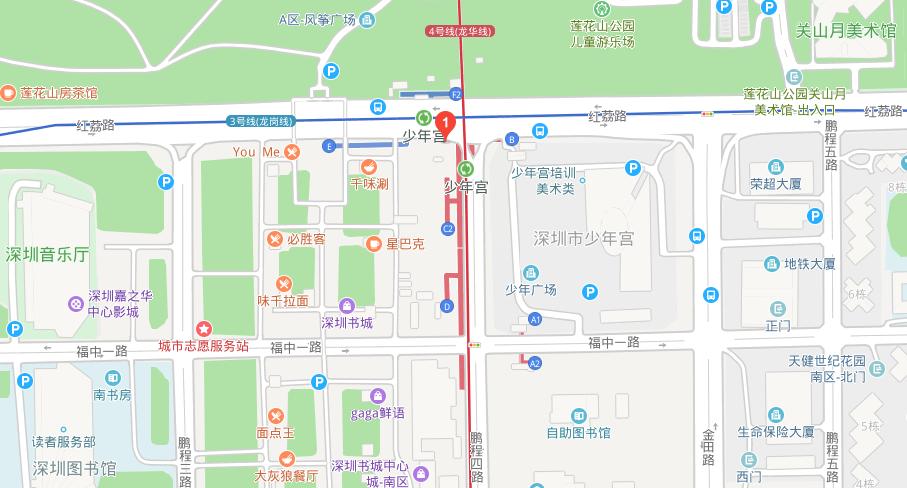 深圳地铁少年宫站出口详情及运行时间