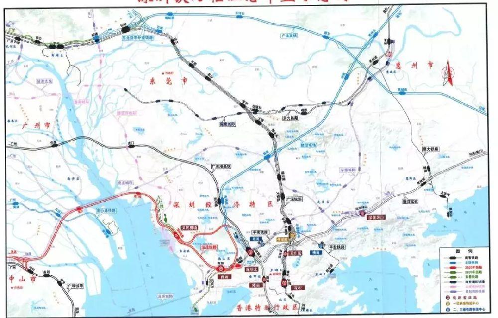 深圳城际铁路规划(穗莞深+深惠+深珠+深汕+虎龙城际)