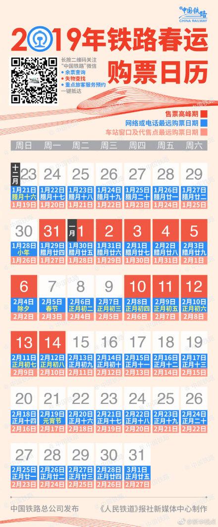 春运返程高峰火车票1月11日开售