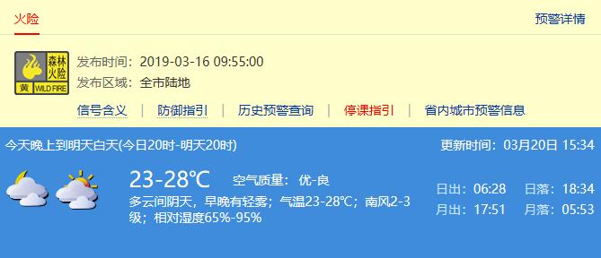 2019年3月21日深圳天气 气温23