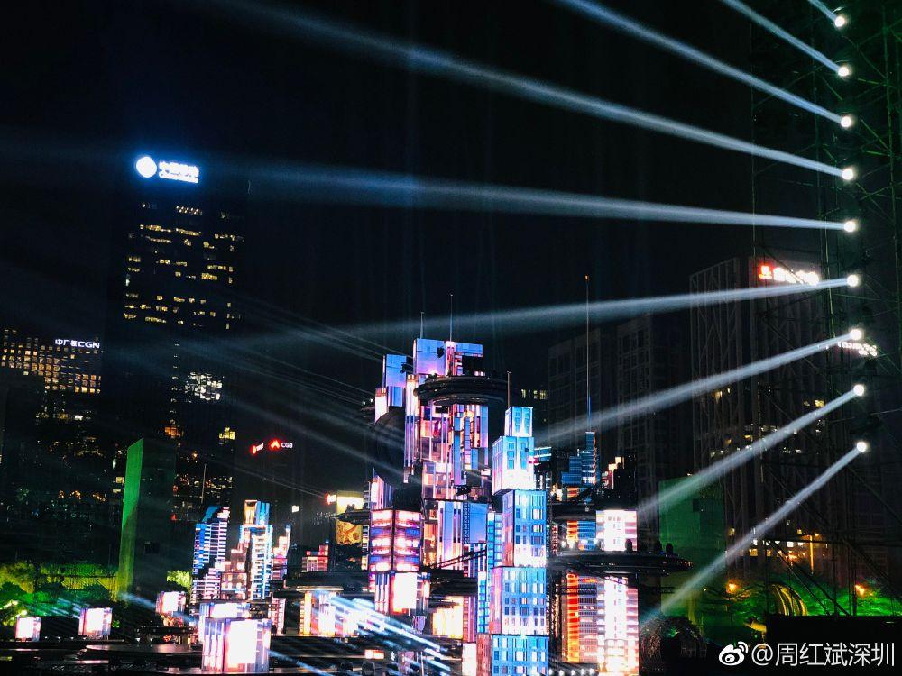 央视春晚深圳分会场舞台及灯光秀图片