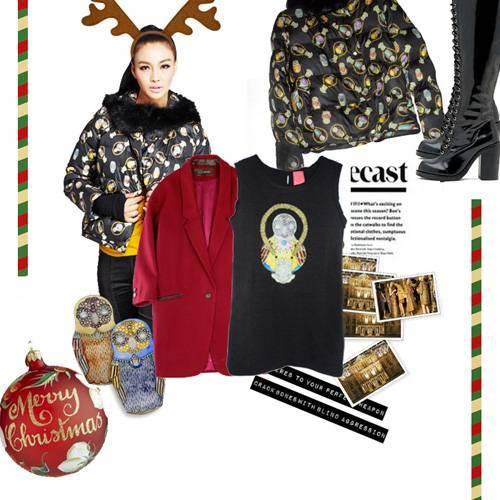 璱妠女装2013马戏团的圣诞映像