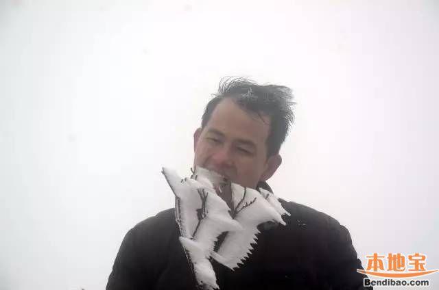 清远金子山迎2017第二场雪 本周末去赏冰雪景观啦