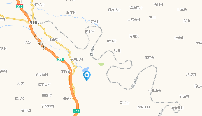 太原到梅苑南山滑雪场自驾车路线