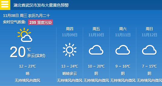 冷空气携雨水3天后到武汉