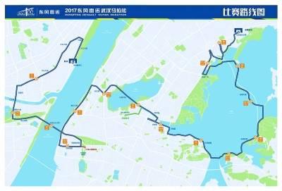 """武汉马拉松组委会昨天组织媒体探访今年""""汉马""""全程线路.图片"""