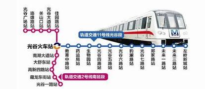 武汉地铁11号线站点分布及线路图