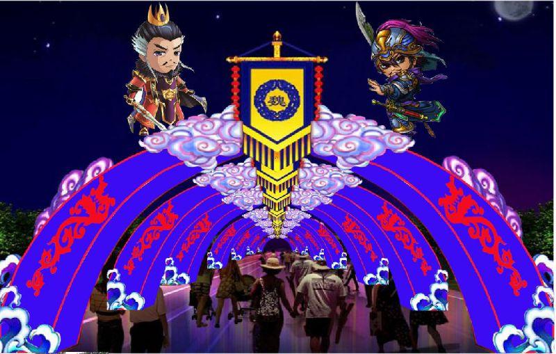串起花灯,圣火,猜灯谜,动感7d互动影院,少儿diy,电玩,台湾美食节等