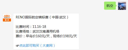 武汉RENO国际航空锦标赛(时间+地点+门票)