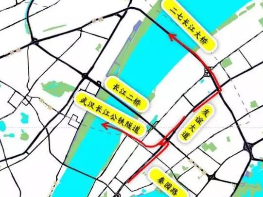 武汉长江公铁隧道交通指南