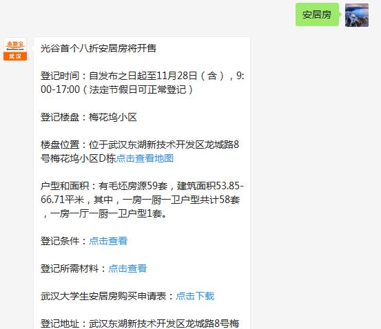 光谷大学生八折安居房开始登记(位置+价格+登记办法)