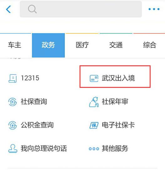 武汉出入境精新增支付宝小程序填表预约