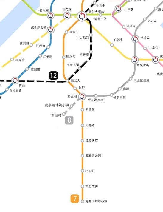 武汉地铁27号线线路图及站点一览