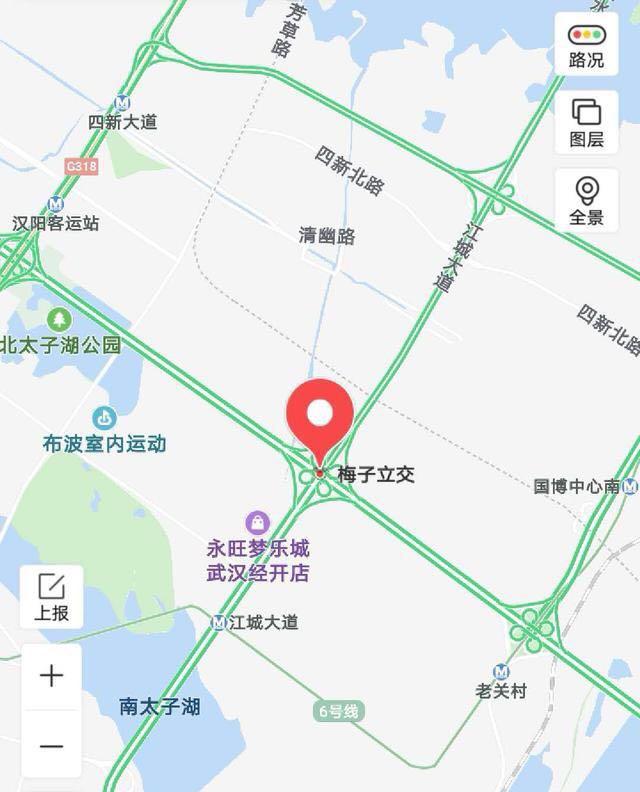 武汉梅子立交ME匝道封闭检测 绕行线路看这里