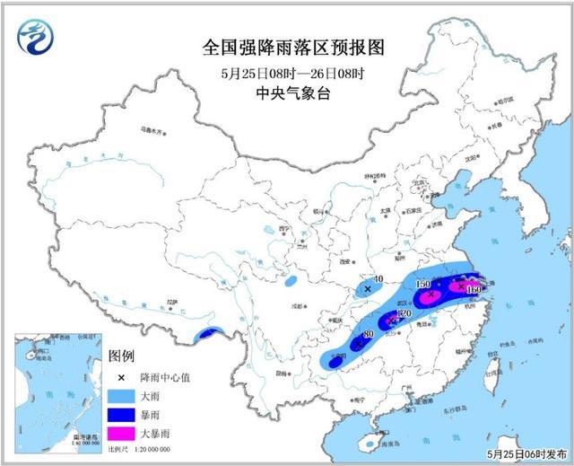 湖北发布暴雨黄色预警 长江中下游将有较强降水