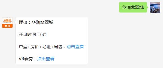 武汉华润翡翠城(房价+地址+开盘时间+户型图)