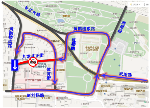 武汉两处地铁沿线施工 黄鹤楼附近车辆需绕行