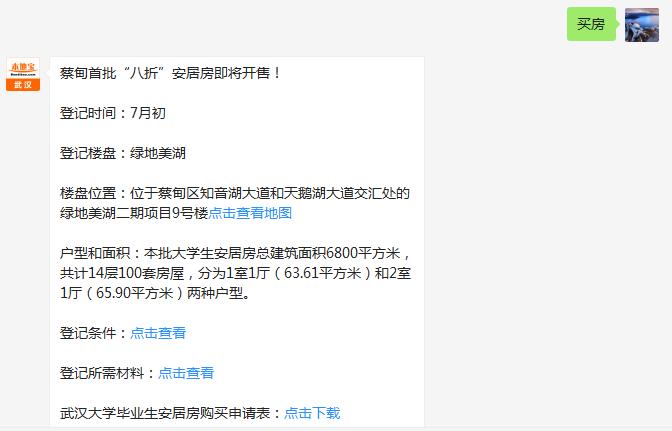武汉蔡甸区大学生安居房地址