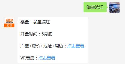 武汉伟鹏万科·御玺滨江(房价+地址+开盘时间+户型图)