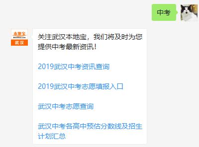 2019武汉中考  各区高中分数线及招生计划汇总最新