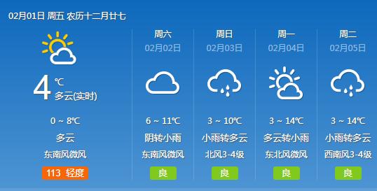 今日转晴武汉除夕或有雨