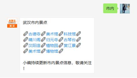 武汉一日游行程安排