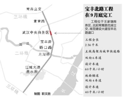 宝丰北路工程将在9月底完工