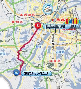 3月30日起武汉2条公交调整中途走向