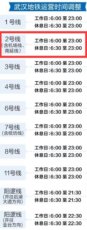 武汉地铁2号线时间