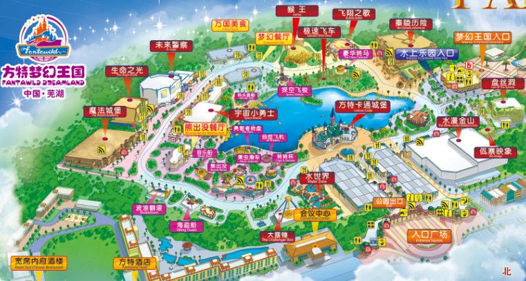 芜湖方特梦幻王国景区导游图