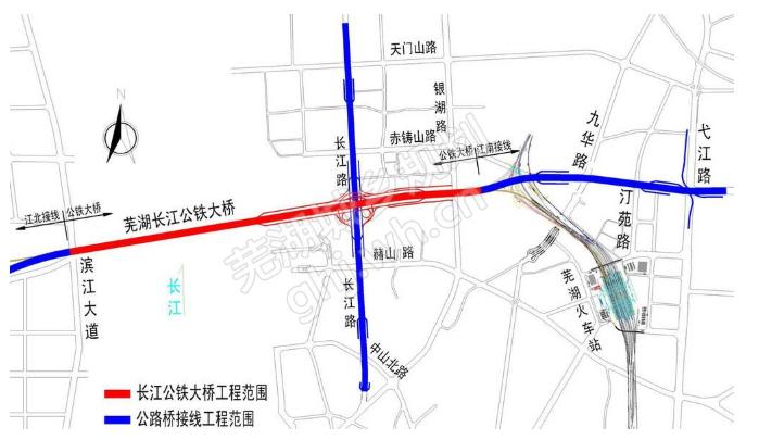 芜湖长江二桥规划图_商合杭芜湖长江公铁大桥规划图- 芜湖本地宝