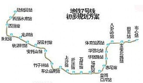 深圳地铁7号线线路图