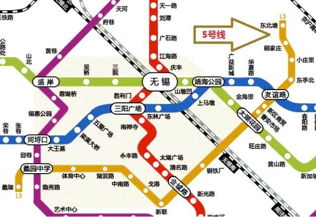 无锡地铁5号线线路图