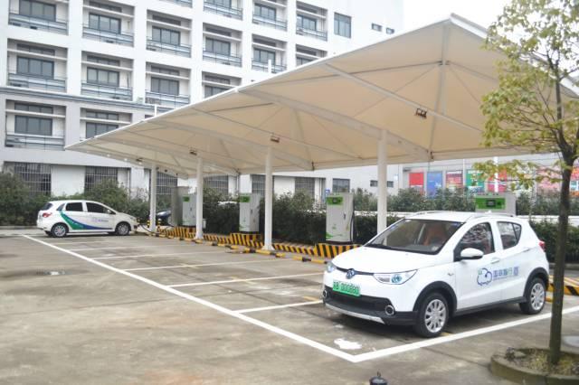 无锡共享汽车充电桩分布点高清图片