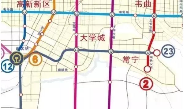 西安轻轨23号线站点分布