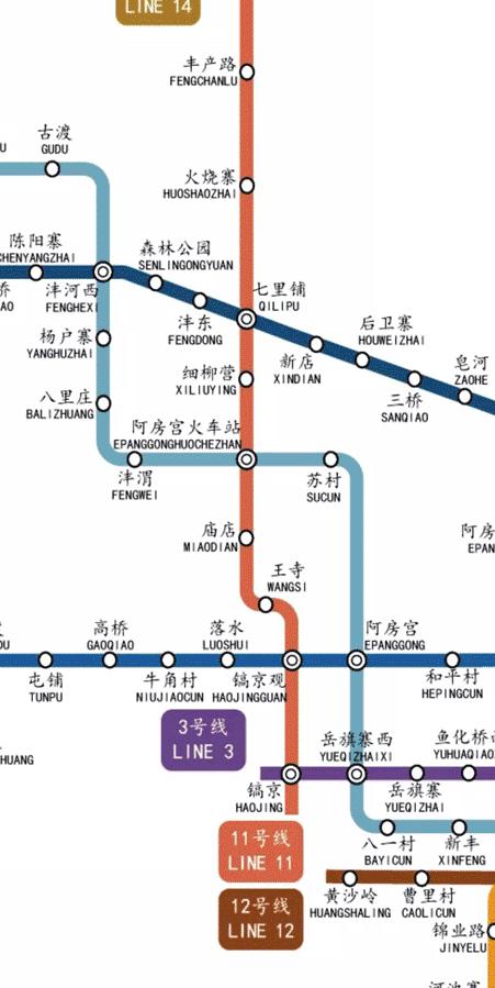 西安地铁11号线最新线路图