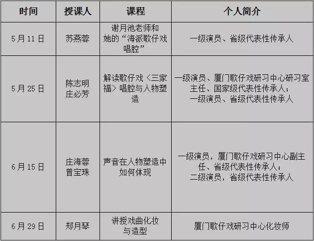 2019厦门周末活动汇总(持续更新)