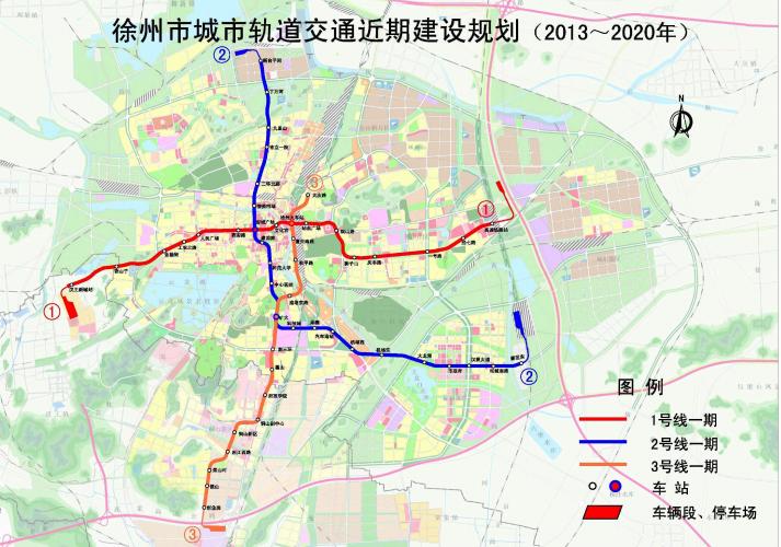 徐州地铁线路图图片