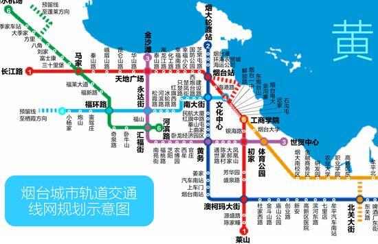 烟台地铁1号线规划图