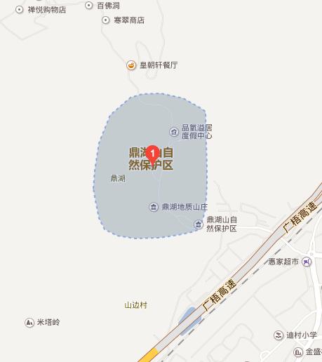 肇庆鼎湖山自然风景区地图