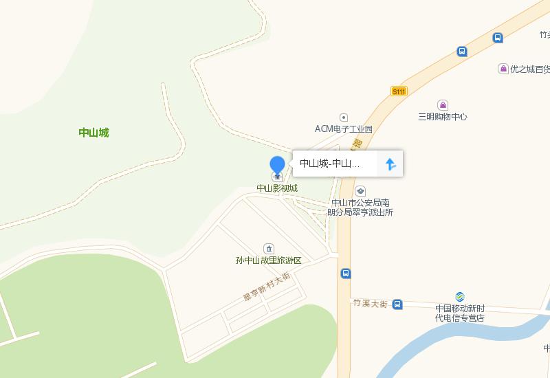 中山影视城地图