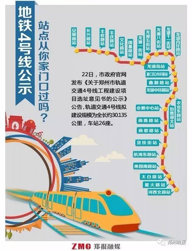 郑州地铁4号线最新线路图