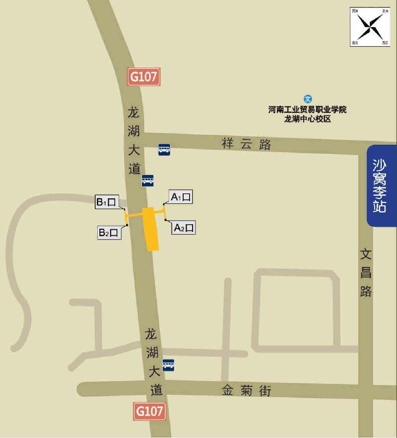 郑州地铁沙窝李站出入口详情(接驳公交+地标+末班车)