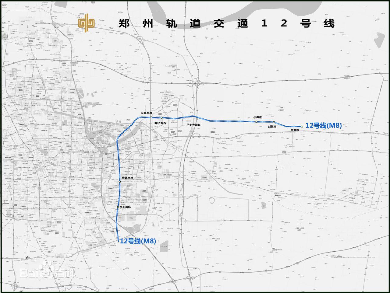 郑州地铁12号线线路图图片